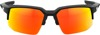 Speedcoupe Sunglasses Black w/ Orange/Red Mirror Dual Lens