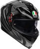 K-5 S Full Face Street Motorcycle Helmet Silver 2X-Large