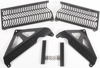 Aluminum Radiator Guard Black - For 06-08 Kawa KX450F