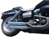 "Loose Cannon Chrome 3"" Slip-On Exhaust - 08-17 H-D FXDF FXDWG"