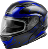 MD-01S MODULAR WIRED SNOW HELMET BLACK/BLUE - 3X-Large