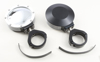 "Billet Side Mirrors Round W/Bezel White 1.75"" (PAIR)"