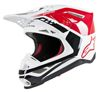 Supertech M8 Triple Motorcycle Helmet Red/White Medium