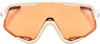 Glendale Sunglasses White w/ Persimmon Orange Lens