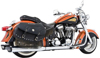 "2.5"" Dual Full Exhaust - M-16 Mufflers Chr/Blk - Indian Chief"