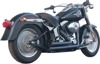 Upstarts 2-in-2 Black Full Exhaust - For 07-17 H-D Softail