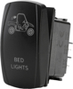 """Bed Lights"" Lighting Switch - Amber Lighted SPST Rocker"