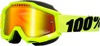 Accuri Fluorescent Yellow Snow Goggles - Dual Mirrored Lens