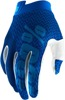 iTrack Motocross Gloves - Blue & Navy Short Cuff 2X-Large