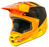 Elite Motocross Helmet Orange/Yellow Youth Medium