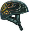 .357 Flame Half Helmet Orange X-Small