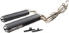 Black Dual Full Exhaust - For 14-19 Scrambler 1000