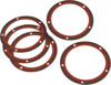 5 Pack Twin Cam Derby Cover Gaskets - 0.030 Paper w/ Bead - Replaces 25416-99B