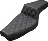Step-Up Lattice Stitched 2-Up Seat Black Gel