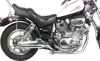2-2 Chrome Slash Cut Staggered Dual Slip On Exhaust - Yamaha XV700 & XV1100 Virago