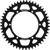 Aluminum Rear Sprocket 48T Black - For 82-17 Kawasaki Suzuki