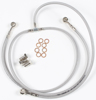 Stainless Steel 3-Line Front Hydraulic Brake Line - For 90-04 Yamaha YFM350XWarrior