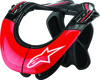 Bns Tech Carbon Neck Support Anthracite/Red/White Xs-M