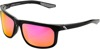 Hakan Sunglasses Black w/ Purple Mirror Lens