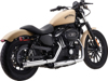 "Loose Cannon Chrome 3"" Slip-On Exhaust - 04-13 H-D XL Sportster"