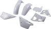 All White Plastics Kit - Front & Rear Fender, Shrouds, Number Plate - For 91 YZ250