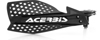 Ultimate X Handguards Black/White - For 72-18 ATV/MX