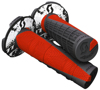Duece 2 Motorcycle Grips Black/Neon Red 7/8""