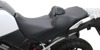 Adventure Tour Plain Vinyl 2-Up Seat Black Gel w/Backrest - V-Strom
