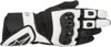 Women's SP Air Motorcycle Gloves Black/White Large