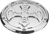 Billet Derby Cover Bad Axe Chrome - For 99-17 HD