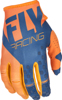Kinetic Riding Gloves For MX & Off-Road Orange/Navy Sz 13