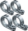 "7/8"" or 1"" P-Clamp Set, Chromed Stainless Steel w/ Hinge - Four Pack of 4018"