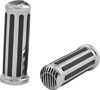 Rail Grips w/Slotted Black End Caps - For 55-18 Harley