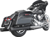 GP Touring Black Slip-On Exhaust - For 09-15 Harley FLH FLT