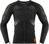 Long-Sleeve Compression Armor Shirt Black X-Large
