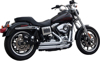 Upstarts 2-IN-2 Full Exhaust Chrome - 06-17 HD Dyna