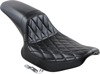 Daytona Sport Diamond Vinyl 2-Up Seat Black - For 82-94 Harley FXR