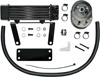 Horizontal Low Mount Oil Cooler Black - For 00-17 Harley Softail