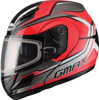 Gm-44S Modular Glacier Snow Helmet Red/Silver/Black Sm