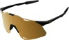 Hypercraft Sunglasses Matte Black w/ Gold Mirror Lens