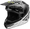 Kinetic K120 MX Helmet Black/White/Hi-Vis Youth Large