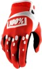 Airmatic Motocross Gloves - Red & White Short Cuff Men's 2X-Large