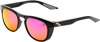 Slent Sunglasses Black w/ Purple Mirror Lens