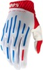 Ridefit Motocross Gloves - Blue, Red, White Short Cuff X-Large