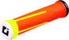 AG1 Lock-On ATV Grips Orange & Yellow - Fits Thumb Thrt. ON PWC ATV & Snowmobiles