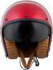 Belfast Open-Face Solid Motorcycle Helmet Candy Red X-Small