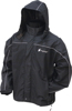 Toadz Highway Rain Riding Jacket Black/Silver Small