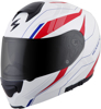 EXO-GT3000 Modular Sync Motorcycle Helmet Red/White/Blue X-Small