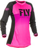 Women's Lite Jersey Neon Pink/Black Youth X-Large