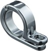 "7/8"" or 1"" P-Clamp Set, Chromed Stainless Steel w/ Hinge - Each"